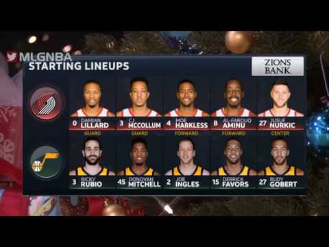 Utah Jazz vs Portland Trail Blazers Full Game Highlights   12 25 2018 NBA Season