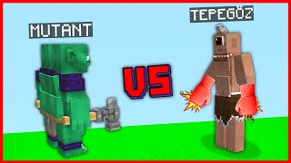TEPEGÖZ VS MUTANT YARATIK! 😱 - Minecraft