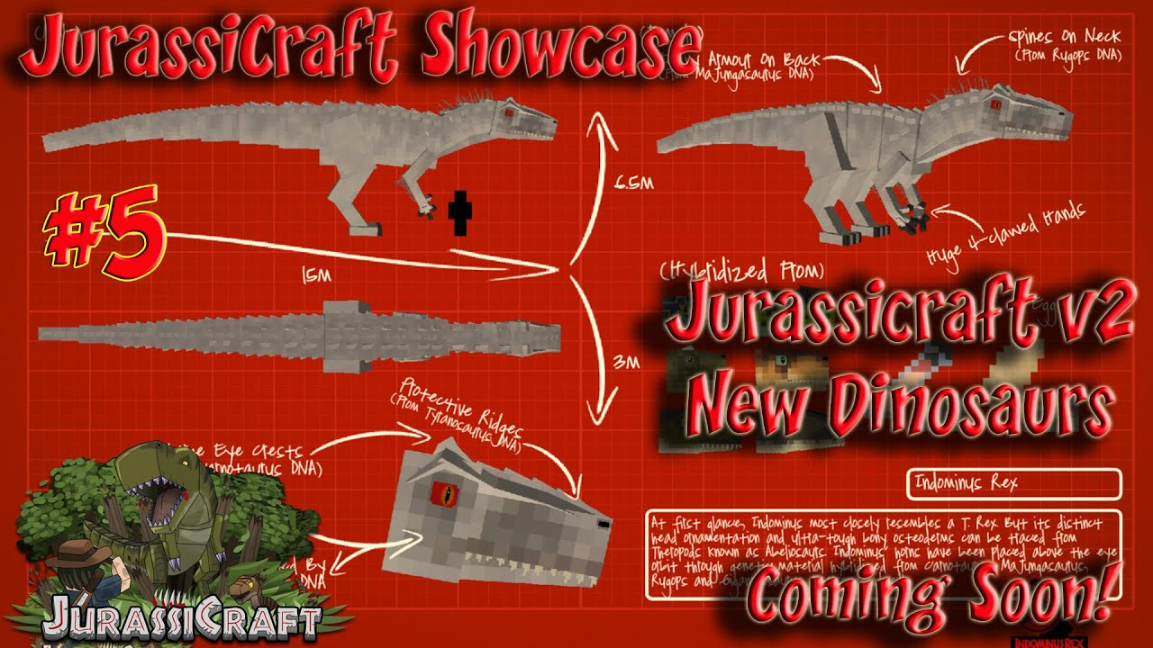 Jurassicraft 2 Showcase Jurassicraft 1 8 Pre Release