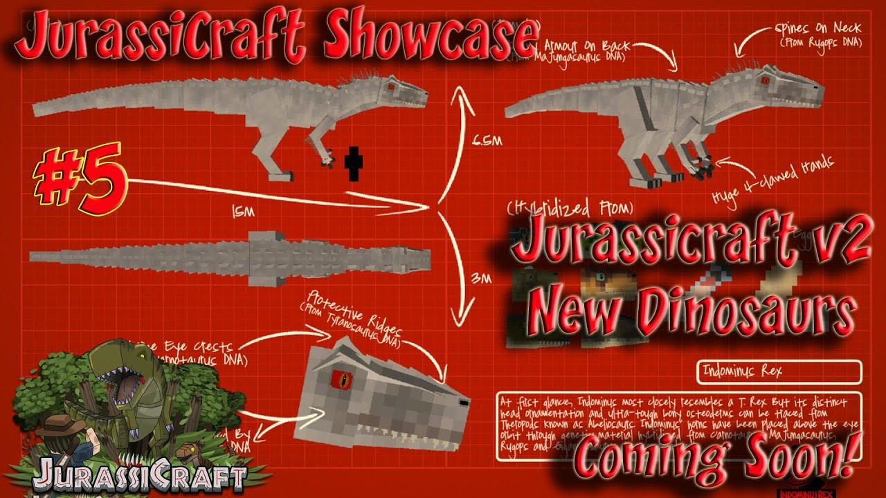 Jurassicraft 2 Showcase Jurassicraft 1 8 Pre Release