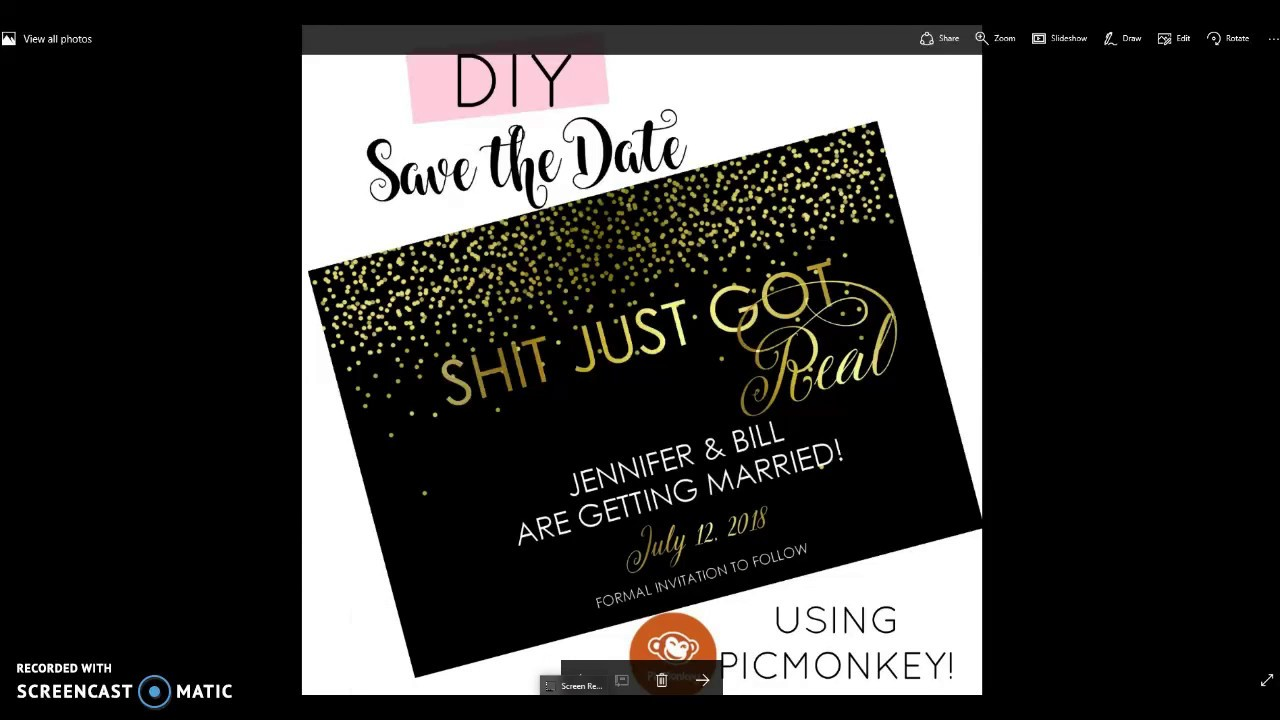DIY Save The Date How To Make Your Own Save The Date Cards YouTube - Design your own save the date template