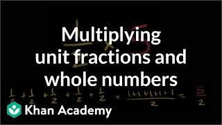 Multiplying Unit Fractions And Whole Numbers | Fractions | Pre-Algebra | Khan Academy