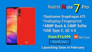 Redmi Note 7 Pro Full specifications & Launch date in India | 51 MP Camera? | Redmi Note 7 Pro Price
