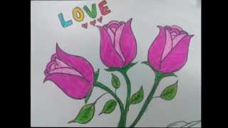 How To Draw Rose Step by Step - Easy Drawing With Bella