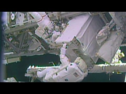 Astronauts complete risky repair job in Space Station