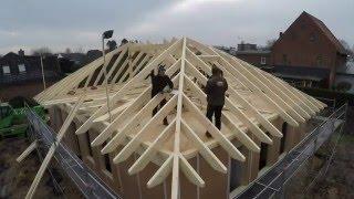 Bungalow in Holztafelbauweise - Hausbau im Zeitraffer