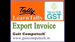 export invoice in tally erp 9 gst in hindi export invoice in gstr 3b
