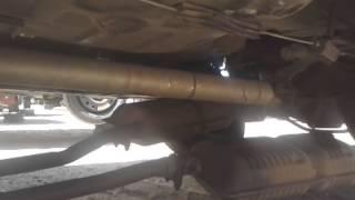 Police aluminum drive shaft at junk yard