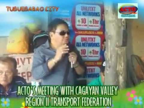 TUGUEGARAO - ACTO'S MEETING WITH CAGAYAN VALLEY REGION II TRANSPORT FEDERATION (CVRIITFED - ACTO)