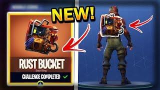 """NEW"" FREE Rust Bucket Bag Release [Secret Item] || Fortnite Battle Royal"