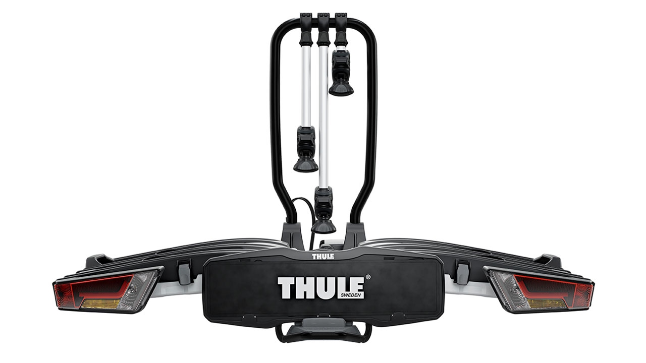 towbar bike rack thule easyfold xt 3 bike youtube. Black Bedroom Furniture Sets. Home Design Ideas