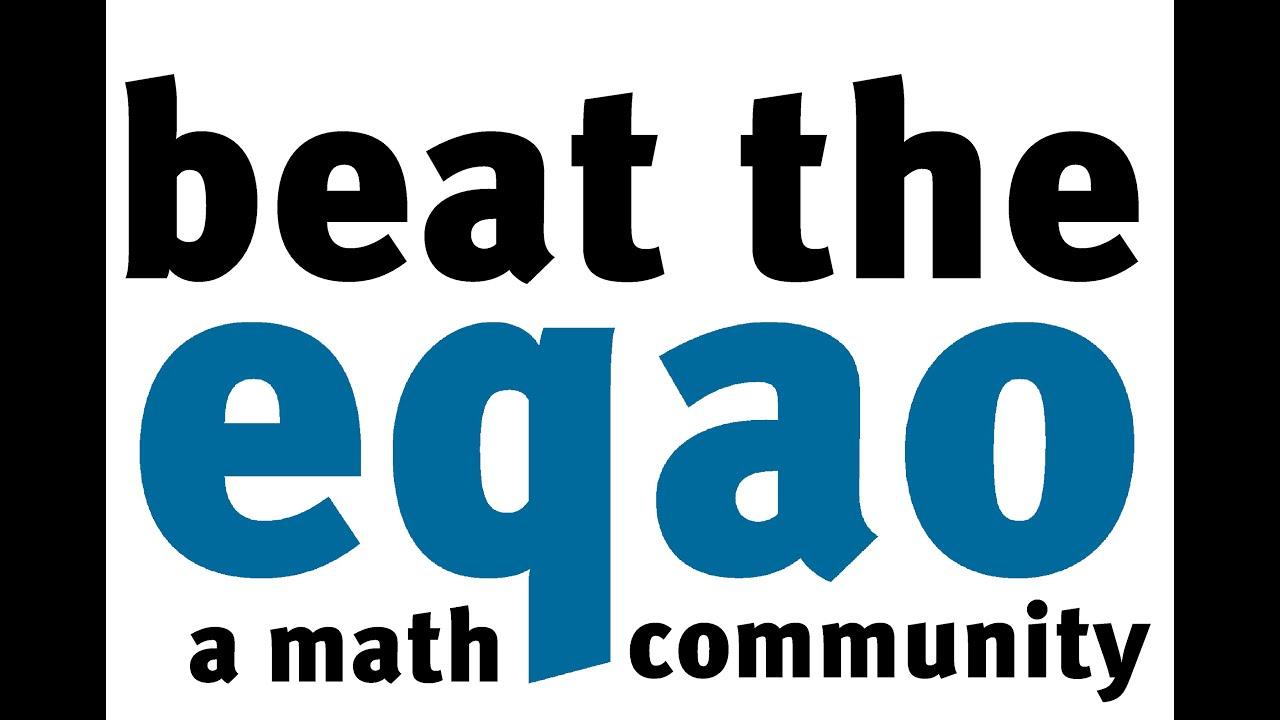 Grade 9 Applied Math EQAO 2013 Q08