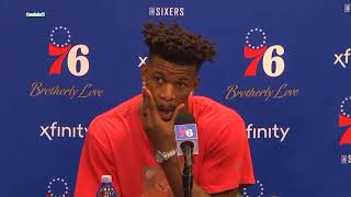 Jimmy Butler SCHOOLS Reporter After REVENGE Win Against His Old Team 'I'm JUS SAYYYIN'