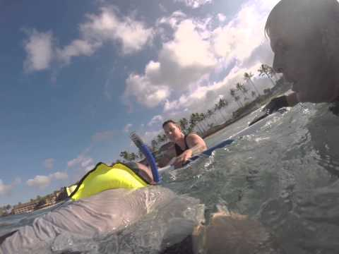 Surf Rescue by Bodysurfer. Uncut video.