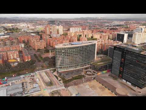 Volando en Drone,Mavic Air , 4K Nuevo  Hotel Grand Hyatt Bogota,Colombia