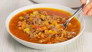Гамбургер суп овощи и мясной фарш Готовится просто получается Всегда Вкусно