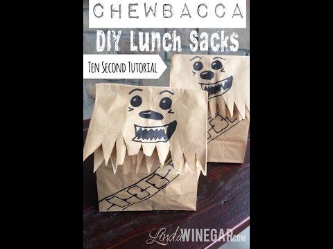 DIY Star Wars Chewbacca Lunch Bag Tutorial