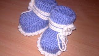 Вязаные пинетки спицами knitting booties.Часть 1.Как связать простые пинетки спицами+для начинающих.(Видео, как связать простые #пинетки спицами-для начинающих. Пинетки вязаные спицами Часть 1 https://youtu.be/4Pnc9CUKjA4..., 2016-08-26T09:00:01.000Z)