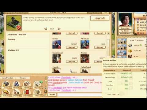 Evony How To Build Troops In Short Time
