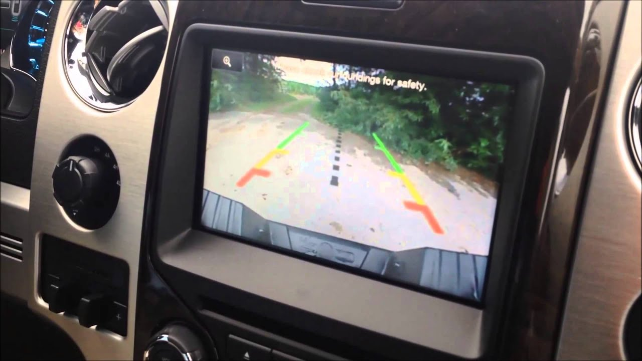 how to zoom in the backup camera with myford touch - youtube