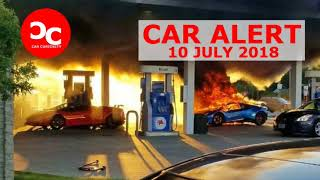 Lamborghini Huracan Performante destroyed in gas station fire