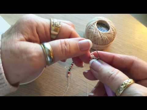 Starting a Double Bead Crochet rope (aka Euro Bead Crochet too)