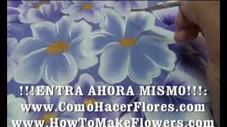 82- CON ¡!!COMO HACER FLORES .COM!!! no necesitas  dibujos para pintar flores!!!.avi