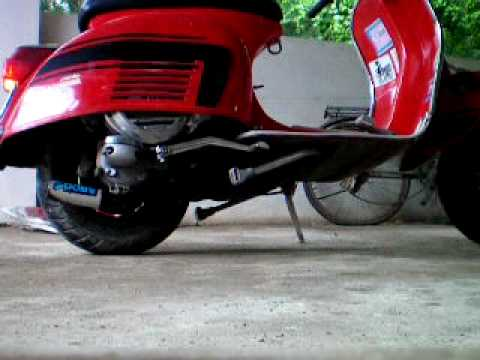 VESPA POLINI Exhaust very loud