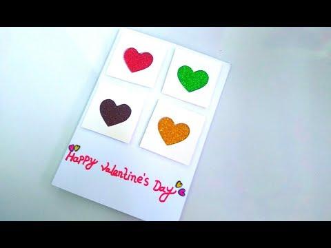 Beautiful Handmade Valentine's Day Card Idea | DIY Greeting Card for Valentine's Day card.