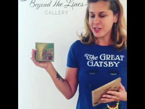 Artist, Annie Wood at Beyond the Lines Gallery