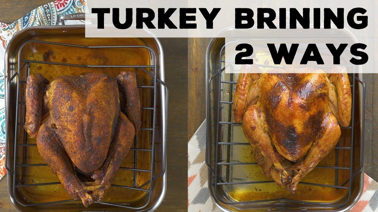 Two ways to brine a turkey dry wet food network youtube two ways to brine a turkey dry wet food network forumfinder Choice Image
