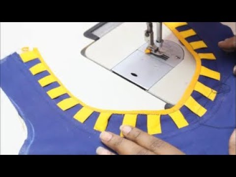 Designer Blouse Cutting And Stitching (DIY) Tamil