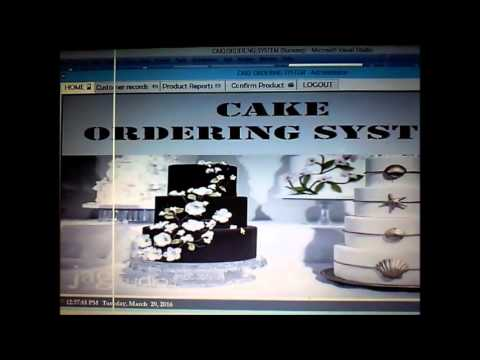 Cake Ordering System
