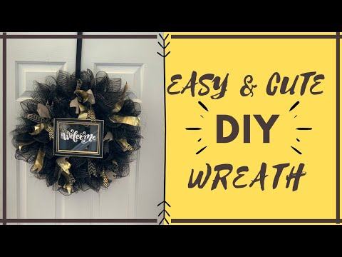 How To Make A SUPER EASY DIY MESH WREATH From Dollar Tree! | Spotify Picture Frame Inspired Decor