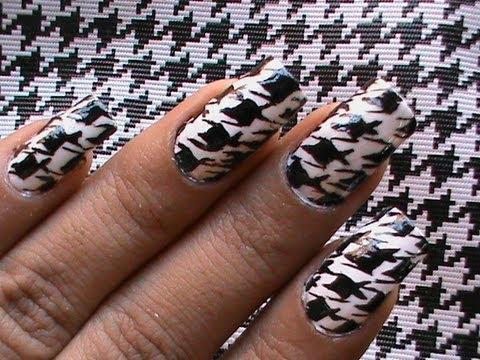 houdstooth pattern cool nail