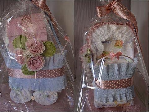 Коляска из памперсов - подарок на рождение ребенка своими руками / Stroller Made Of Diapers