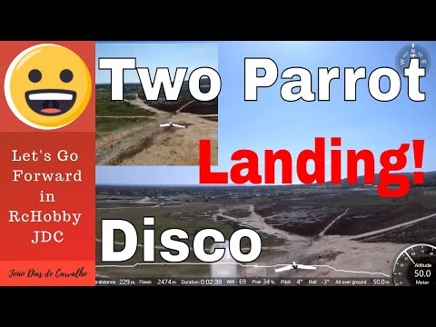 Drone Parrot Disco (Double Vision...) - Two Discos landing together (Follow me), Angola