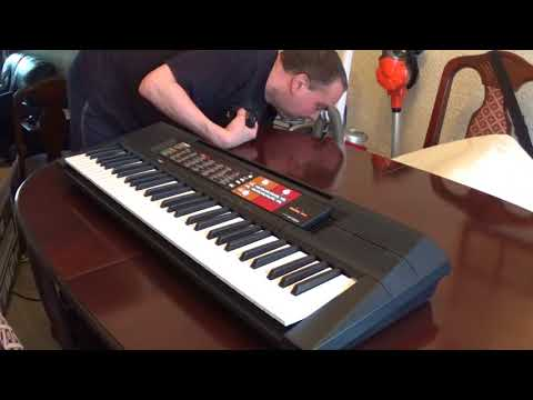 yamaha psr-f51 electronic keyboard unboxing and full review