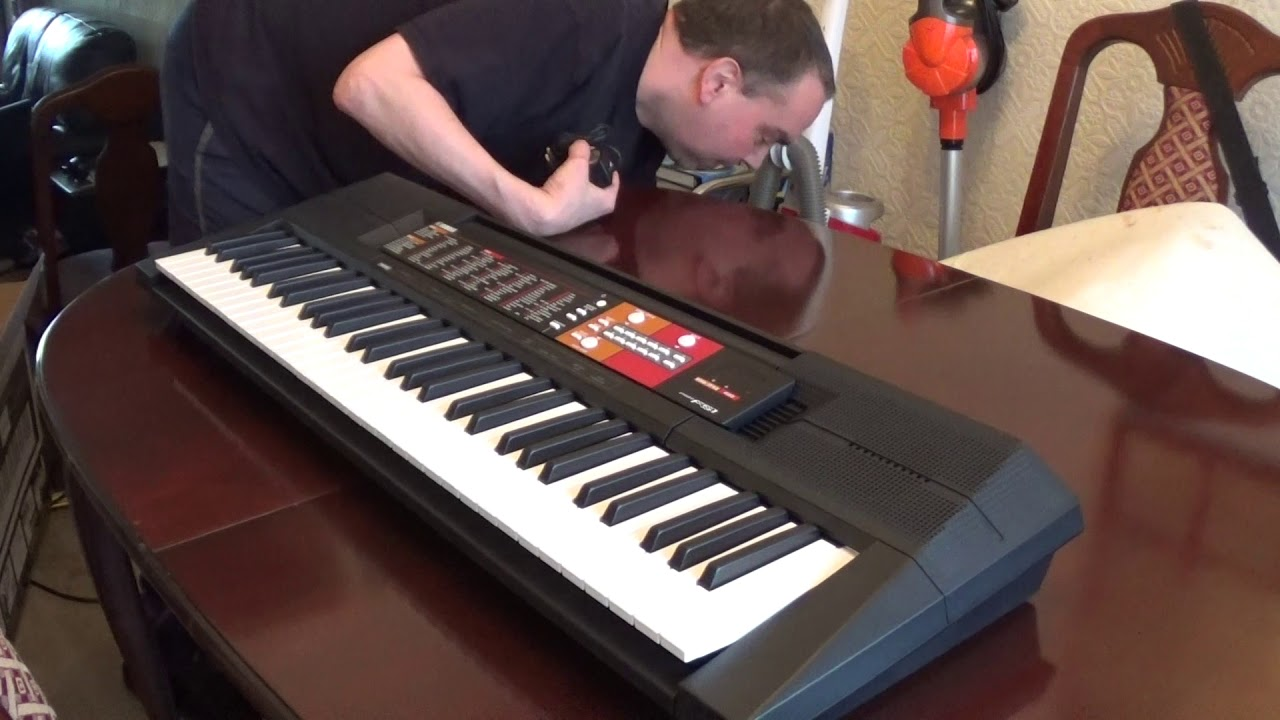 yamaha psr f51 electronic keyboard unboxing and full. Black Bedroom Furniture Sets. Home Design Ideas