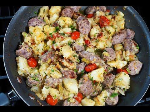 Potato And Sausage Breakfast Skillet | CaribbeanPot.com