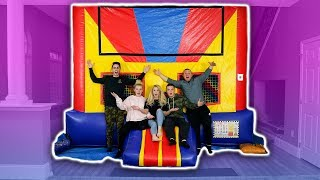 BOUNCY HOUSE INSIDE OF MY NEW HOUSE!