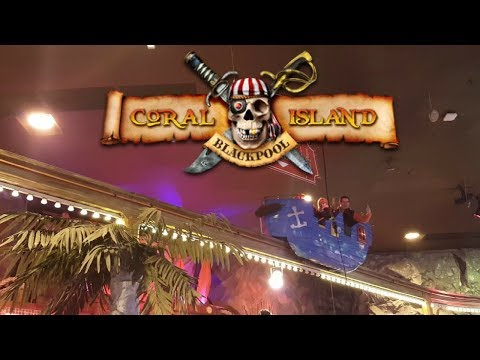 Pirate flyer @ Coral island - Blackpool, UK (POV)