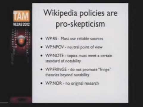 Skepticism on Wikipedia - TAM 2012