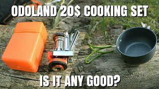 Is the Cheap Cookware Set From Amazon Any Good? Odoland Camping Stove Kit Review
