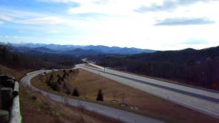 Time Lapse - Scenic Overlook High Above I-26 Hwy