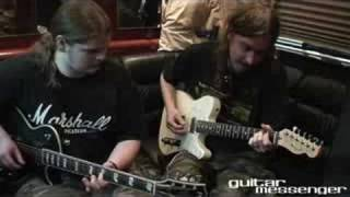 Ivan Chopik jamming with Mikael Åkerfeldt of Opeth
