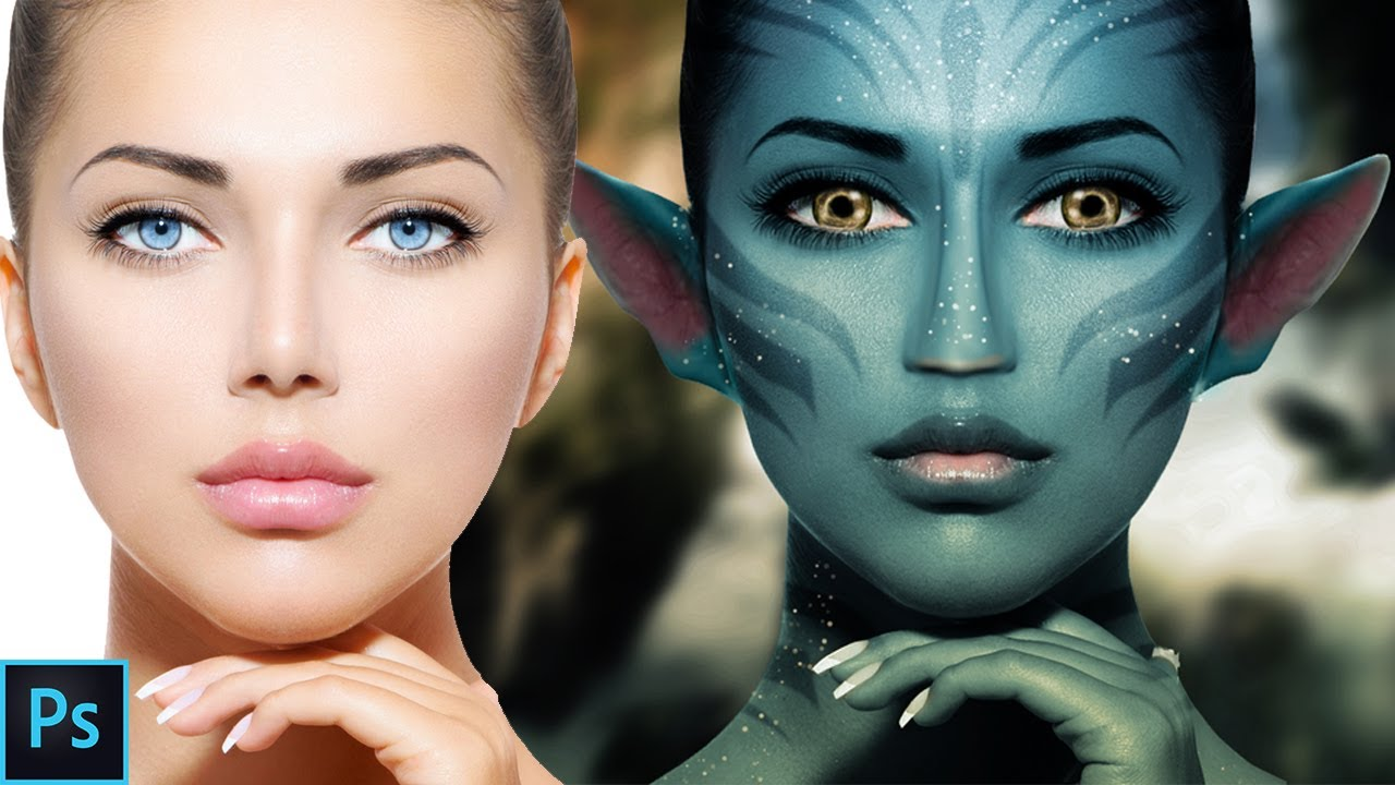 Photoshop tutorial how to paint onto a faceavatar effect youtube photoshop tutorial how to paint onto a faceavatar effect baditri Images