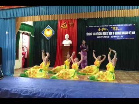 Múa Người Thầy năm xưa - Trường Tiểu học Sơn Diệm - HS- HT