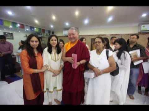 Rinpoche Ringu Tulku visits Mystic Yoga Studio, Kolkata, India