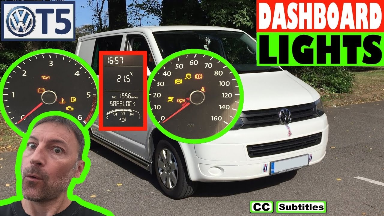 Vw T5 Dashboard Lights Meaning Warning Lamps